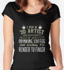 3D ARTIST Women s Fitted Scoop T-Shirt 31b5df6a5