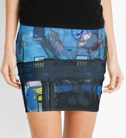 Fish in the Clocktower Mini Skirt