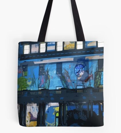 Fish in the Clocktower Tote Bag