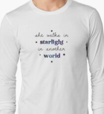 She walks in starlight in another world Long Sleeve T-Shirt