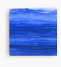 Ombre Waves Blue Ocean Canvas Print