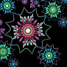 Black Light Flower Power by Barbara A Lane