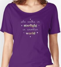 She walks in starlight in another world Women's Relaxed Fit T-Shirt