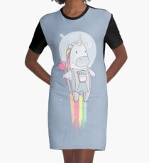 Space Unicorn! Graphic T-Shirt Dress
