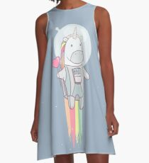 Vestido acampanado Espacio unicornio!