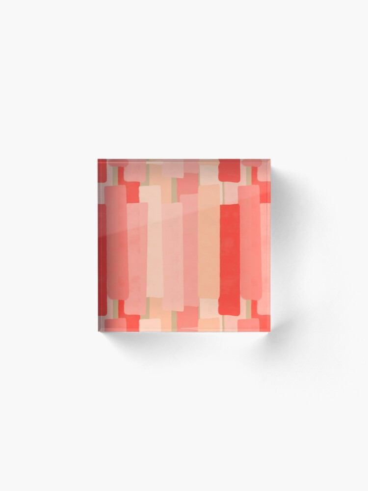Alternate view of Like In Coral #redbubble #abstractart Acrylic Block