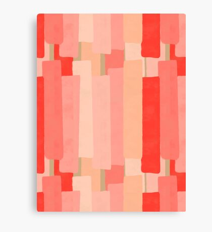 Like In Coral #redbubble #abstractart Canvas Print
