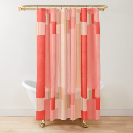 Like In Coral #redbubble #abstractart Shower Curtain