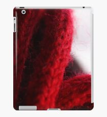 Macro Red Yarn Photograph iPad Case/Skin