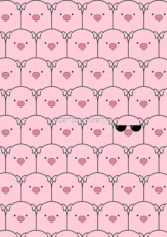 That Cool Pig by cartoonbeing
