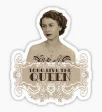 Elizabeth II T-Shirt Couronne Monarque UK God Save The Queen Sticker