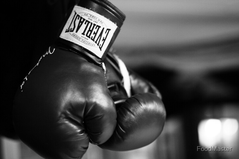 """""""Everlast Boxing Gloves (Black And White) """" Posters by ..."""