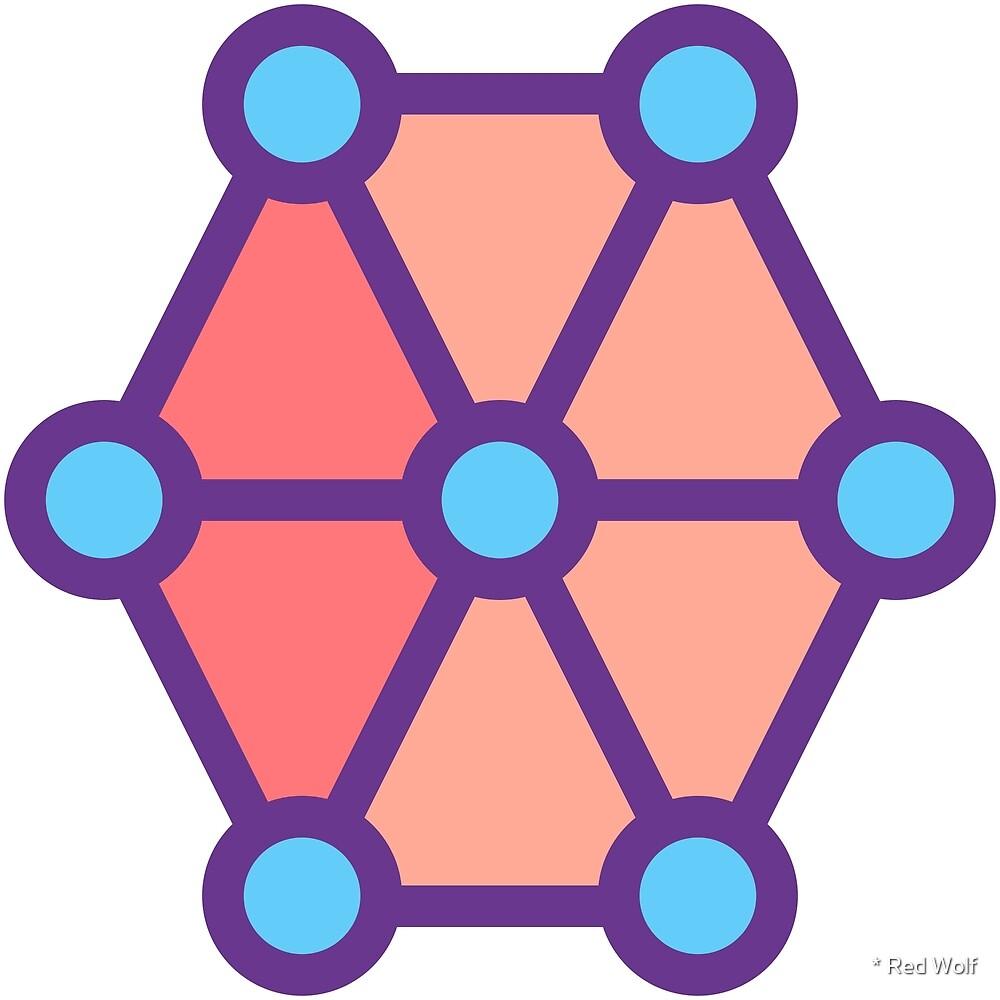 Geometric Pattern: Hexagon Circle: Festive by * Red Wolf