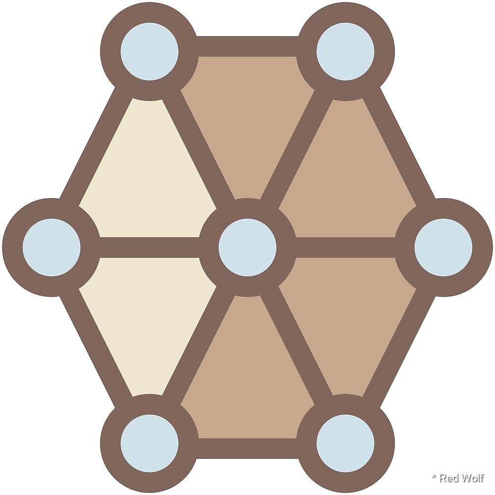 Geometric Pattern: Hexagon Circle: Mesa by * Red Wolf