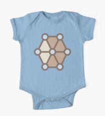 Geometric Pattern: Hexagon Circle: Mesa One Piece - Short Sleeve