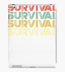 vintage survival - retro survival  iPad Case/Skin