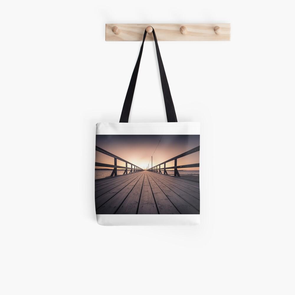 Sonnenuntergang in Dalarna Schweden Stofftasche