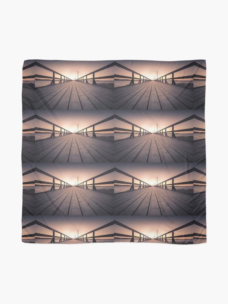 Alternative Ansicht von Sonnenuntergang in Dalarna Schweden Tuch