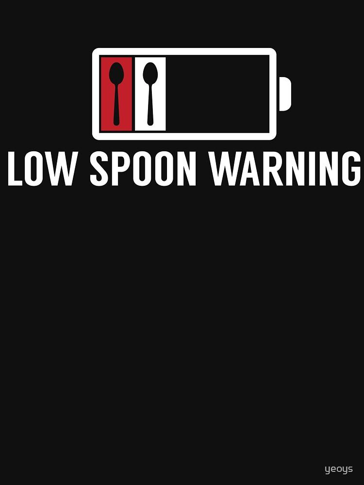 Low Spoon Warning Autoimmune Disease - Autoimmune Disease Gift von yeoys