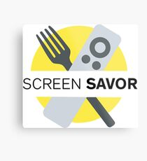 Screen Savor Podcast Logo Metal Print