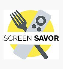 Screen Savor Podcast Logo Photographic Print