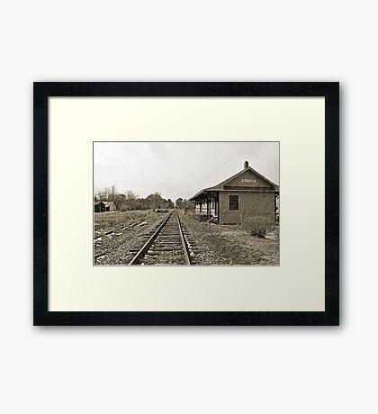 The Rail Depot Framed Print