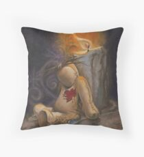 Lonely Little VooDoo Doll Throw Pillow