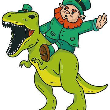 St Patricks Day dinosaur Ireland holiday feast by Rueb