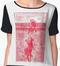 Protomartyr (red engraving) Chiffon Top