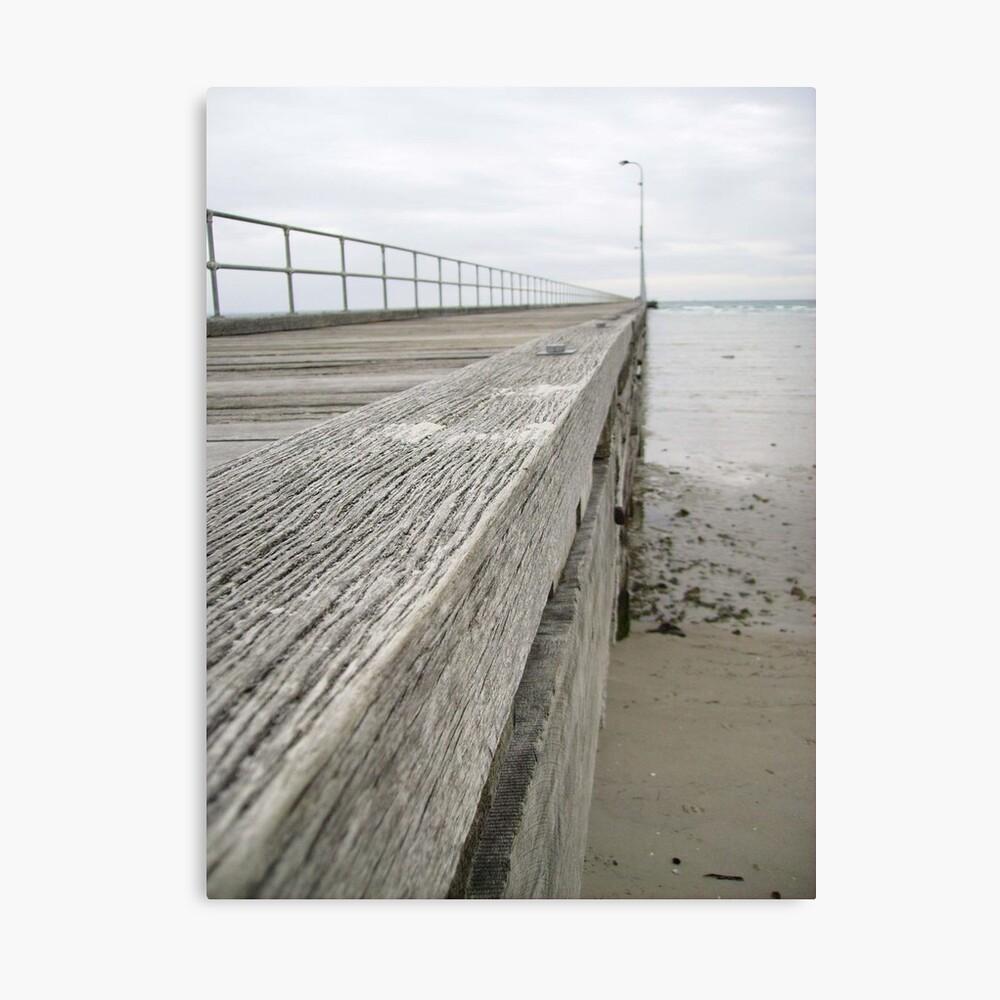 Rosebud Pier -  at low tide Canvas Print