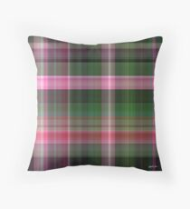 Pink Roses in Anzures 1 Plaid 1 Throw Pillow