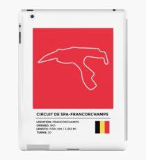 Circuit de Spa-Francorchamps - v2 iPad Case/Skin