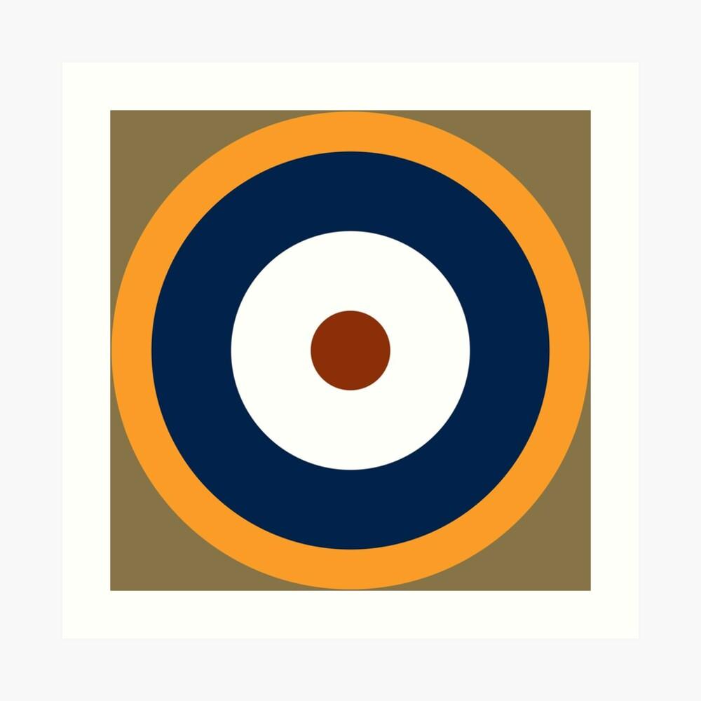 Royal Air Force - Historische Roundel Typ A.2 1940 - 1942 Kunstdruck