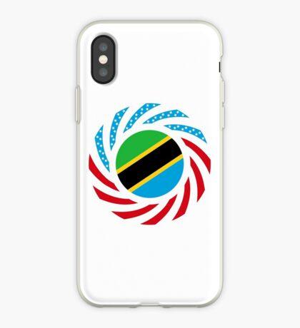 Tanzanian American Multinational Patriot Flag Series iPhone Case