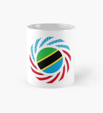Tanzanian American Multinational Patriot Flag Series Mug