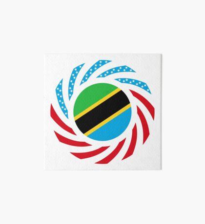 Tanzanian American Multinational Patriot Flag Series Art Board Print