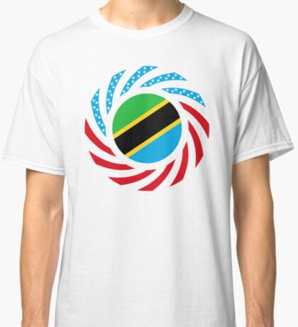 Tanzanian American Multinational Patriot Flag Series Classic T-Shirt