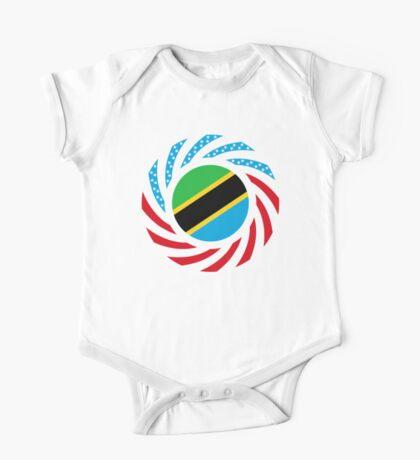 Tanzanian American Multinational Patriot Flag Series Kids Clothes