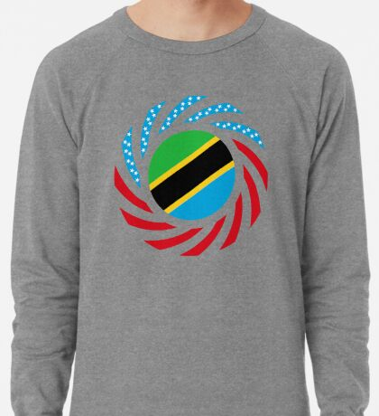 Tanzanian American Multinational Patriot Flag Series Lightweight Sweatshirt