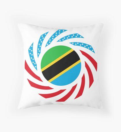 Tanzanian American Multinational Patriot Flag Series Floor Pillow