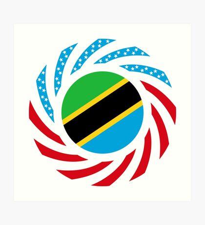 Tanzanian American Multinational Patriot Flag Series Art Print