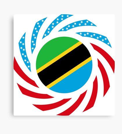 Tanzanian American Multinational Patriot Flag Series Canvas Print
