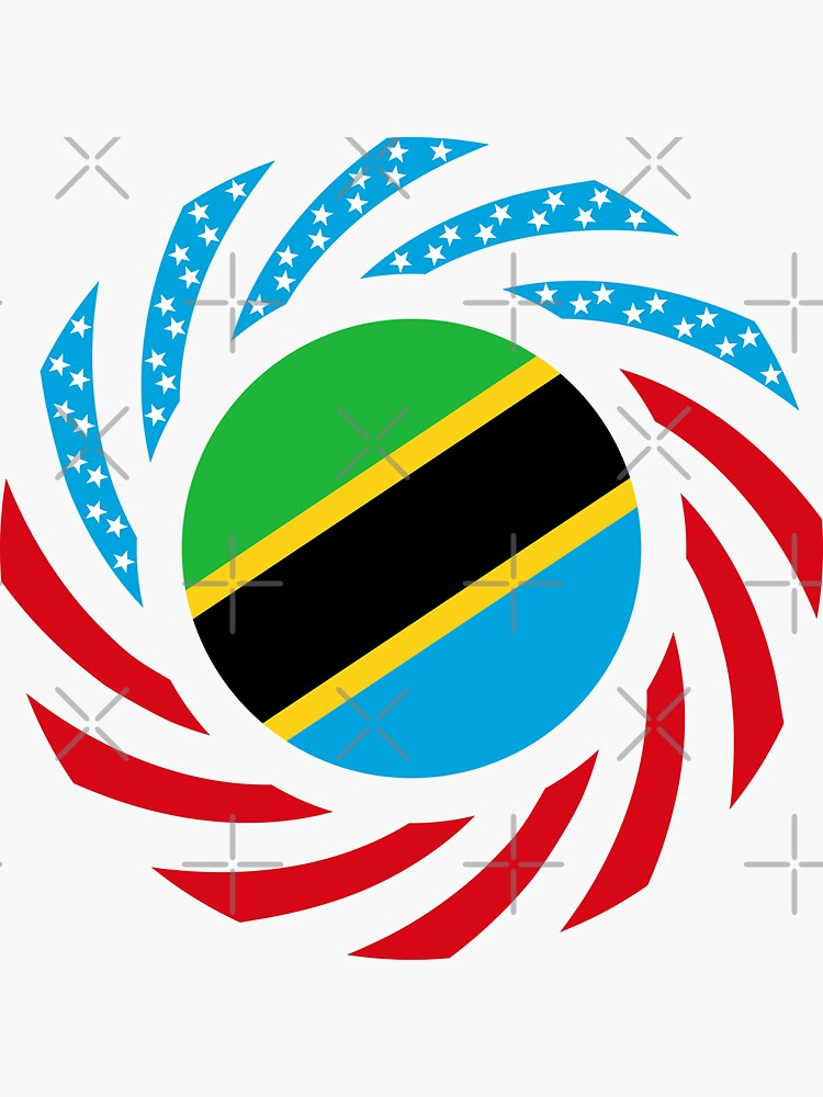 Tanzanian American Multinational Patriot Flag Series by carbonfibreme