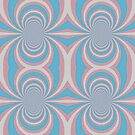 Abstract Kaleidoscope Print   Transgender Flag Colors by Benjamin Ace