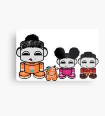 Yum Family: Nom, Jo, Coop & Free O'BABYBOT Toy Robot Metal Print