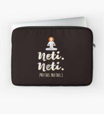 Neti Neti (Not this. Not This.) Yoga Spiritual Vedic  Laptop Sleeve