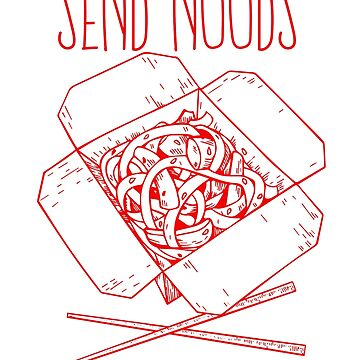 Send Noods - Red by SWMOApparel