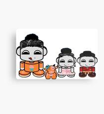 Yum Family: Nom, Jo, Coop & Free O'BABYBOT Toy Robot 2.0 Metal Print