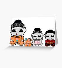 Yum Family: Nom, Jo, Coop & Free O'BABYBOT Toy Robot 2.0 Greeting Card
