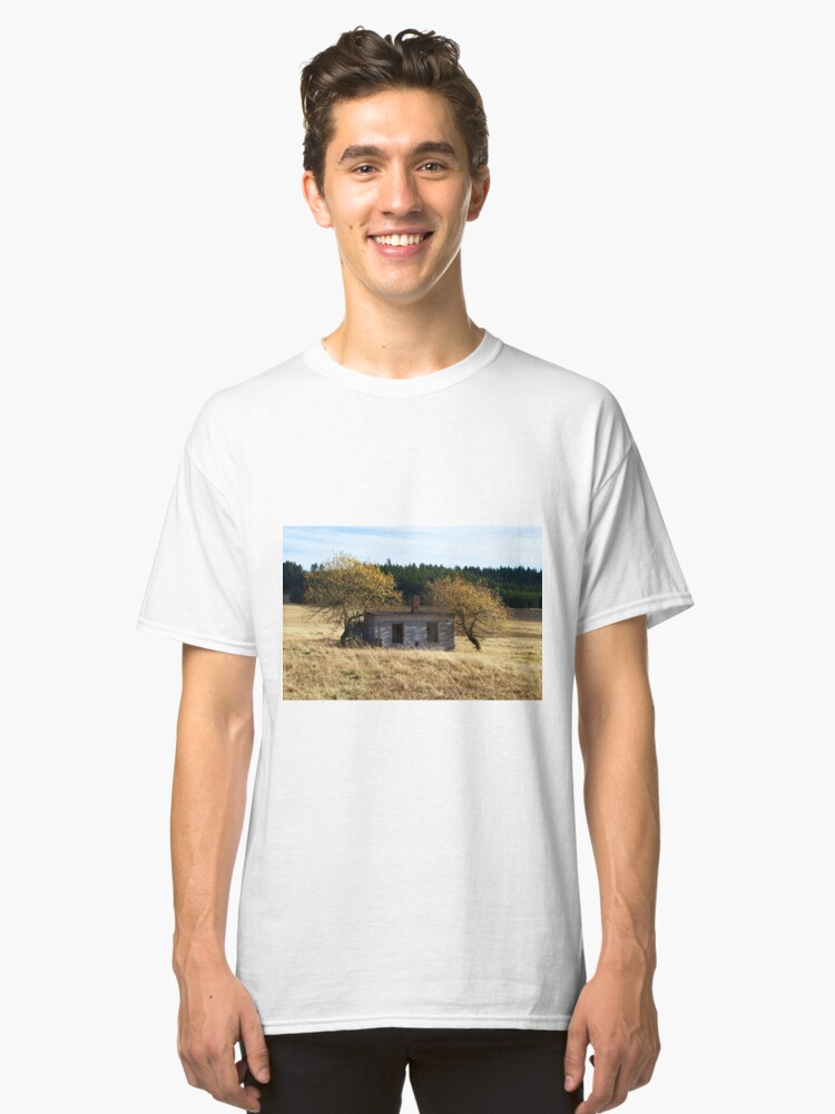 Alternate view of Small house with two trees Classic T-Shirt